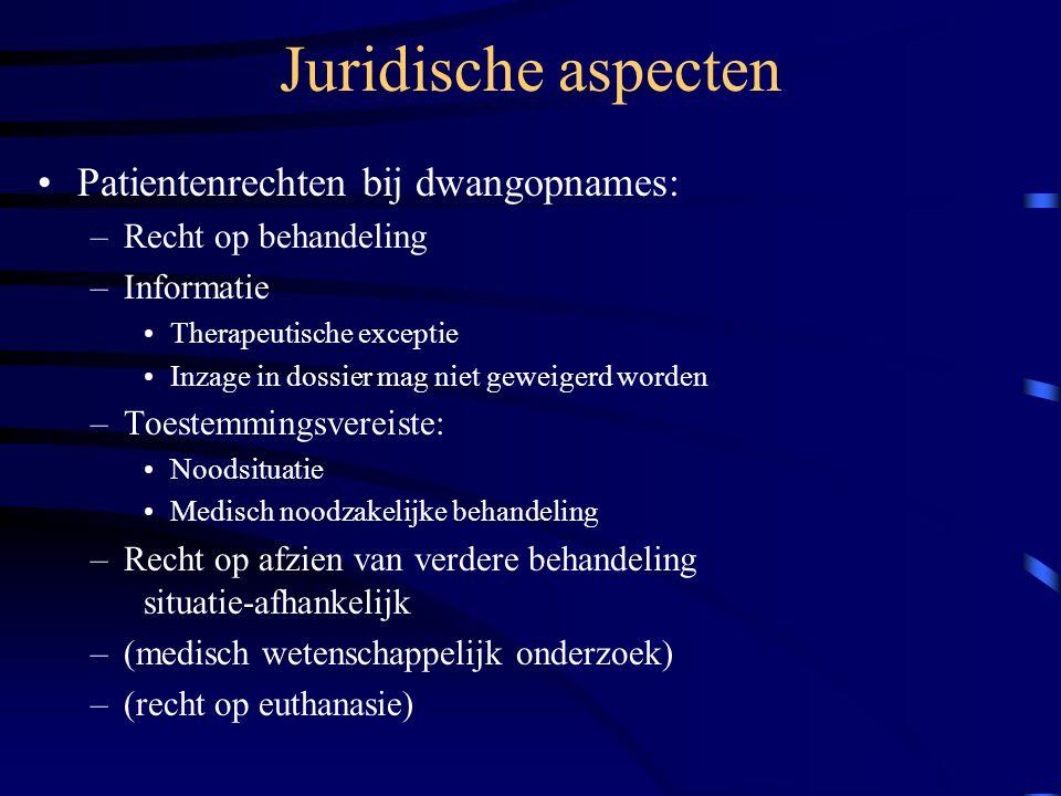 Juridische aspecten Patientenrechten bij dwangopnames: