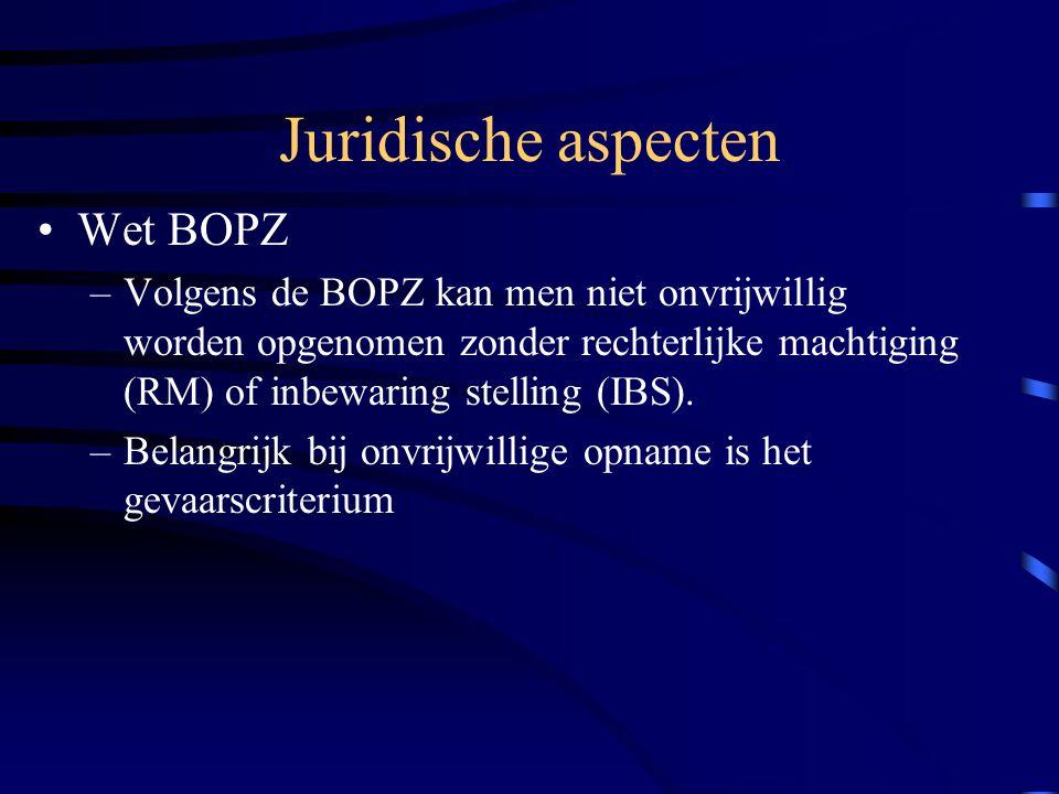 Juridische aspecten Wet BOPZ
