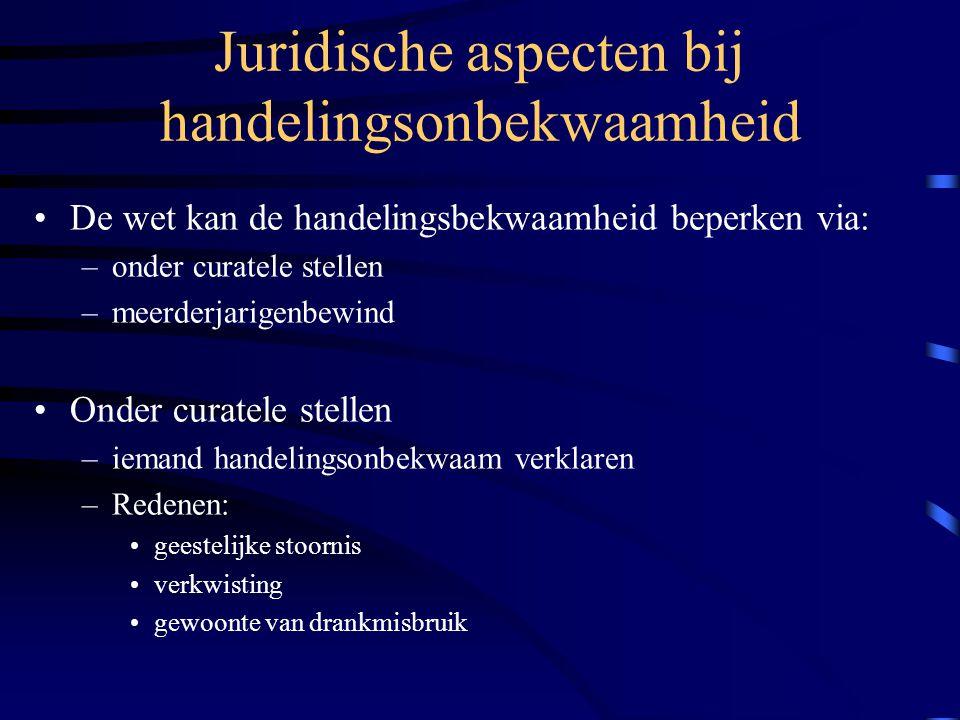 Juridische aspecten bij handelingsonbekwaamheid