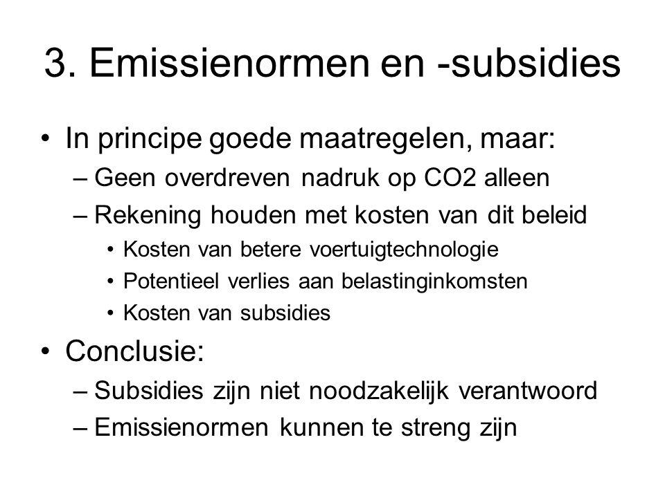 3. Emissienormen en -subsidies