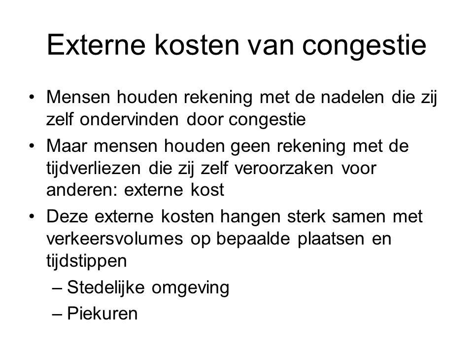 Externe kosten van congestie