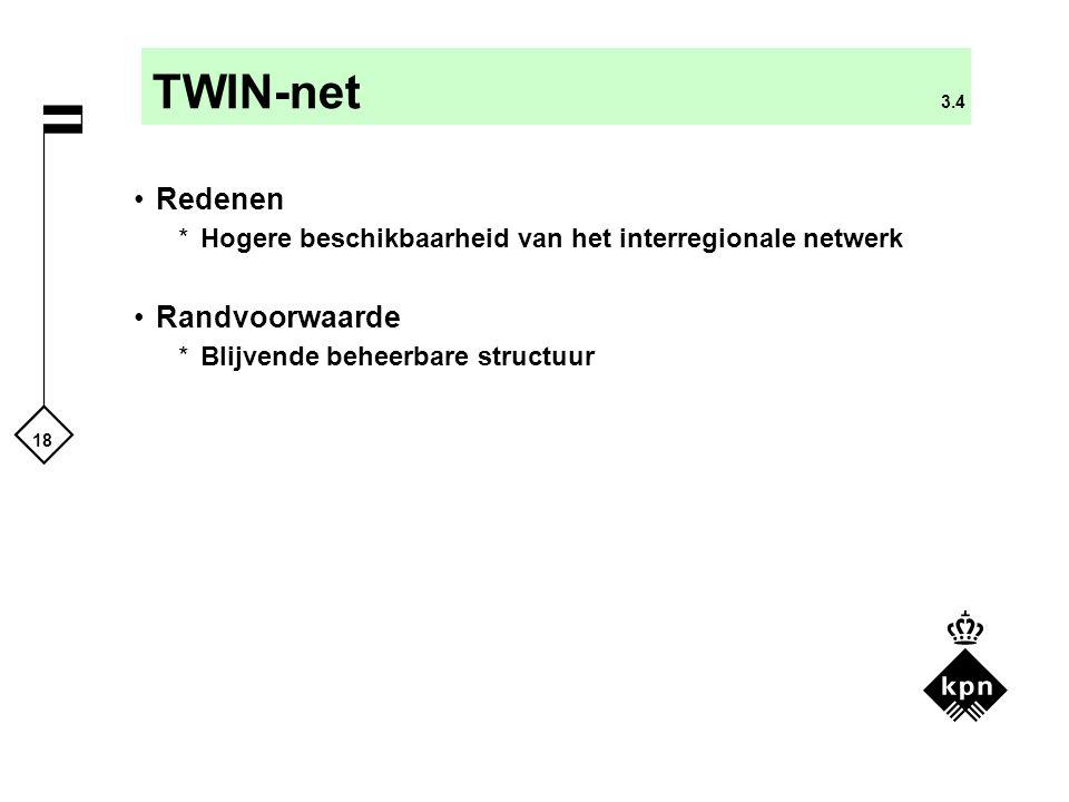 TWIN-net 3.4 Redenen Randvoorwaarde
