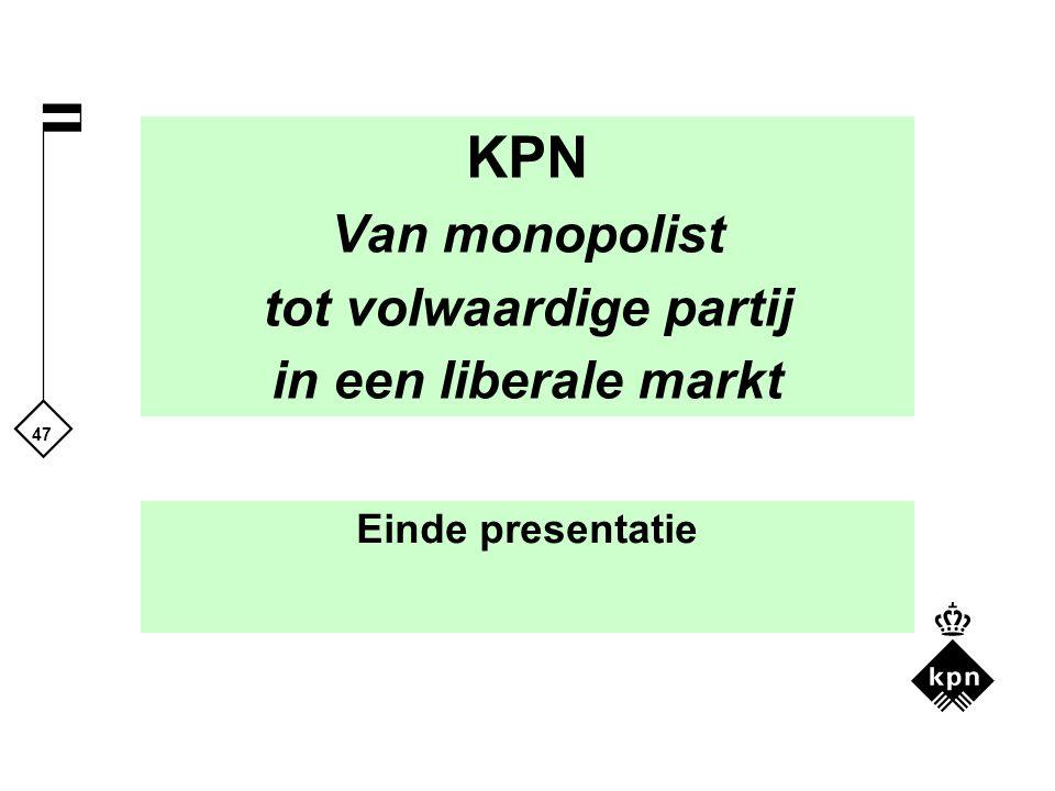 KPN Van monopolist tot volwaardige partij in een liberale markt