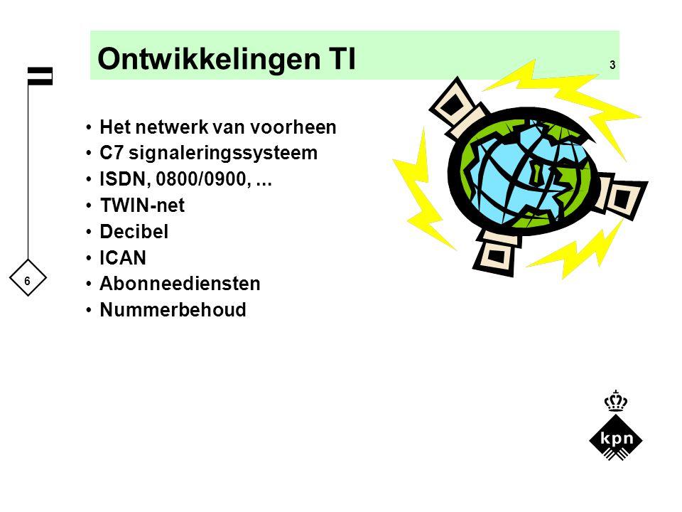 Ontwikkelingen TI 3 Het netwerk van voorheen C7 signaleringssysteem