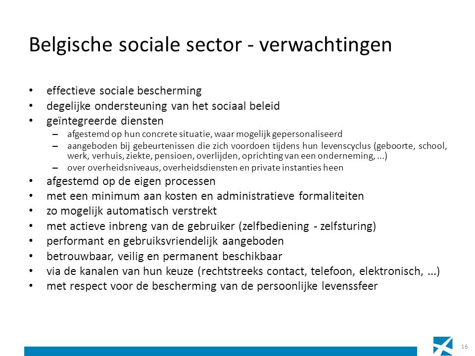 Belgische sociale sector - verwachtingen