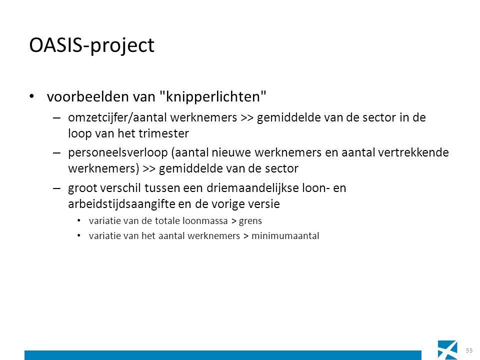 OASIS-project voorbeelden van knipperlichten