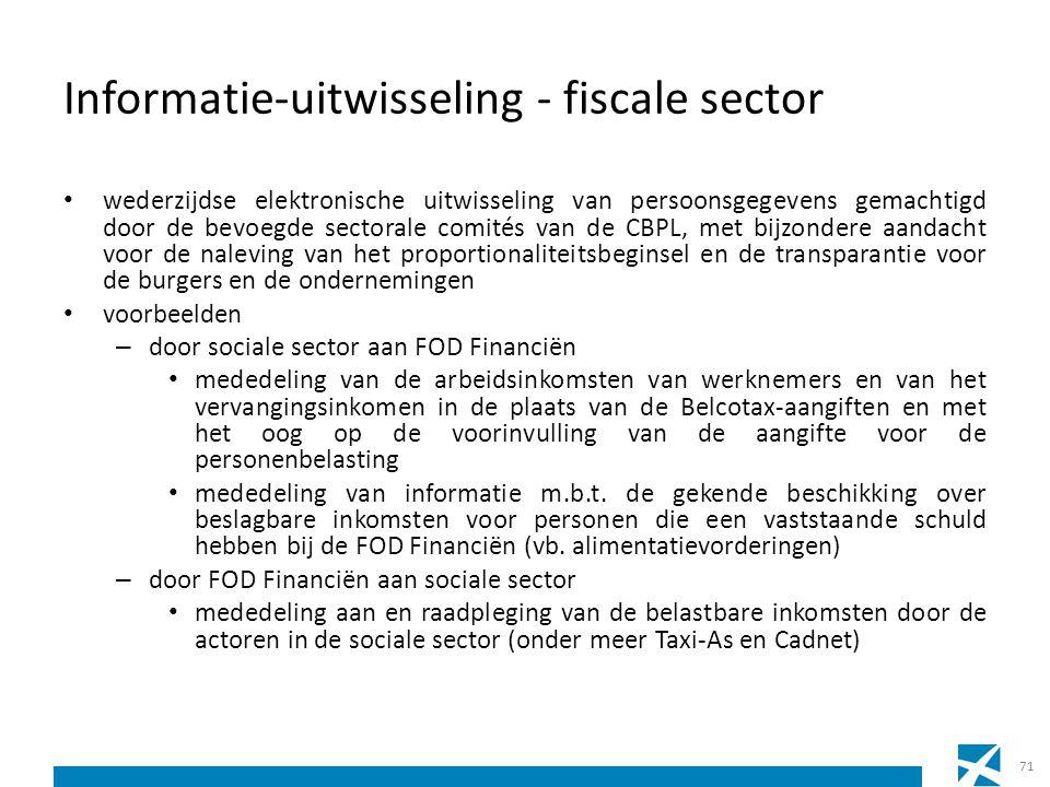 Informatie-uitwisseling - fiscale sector