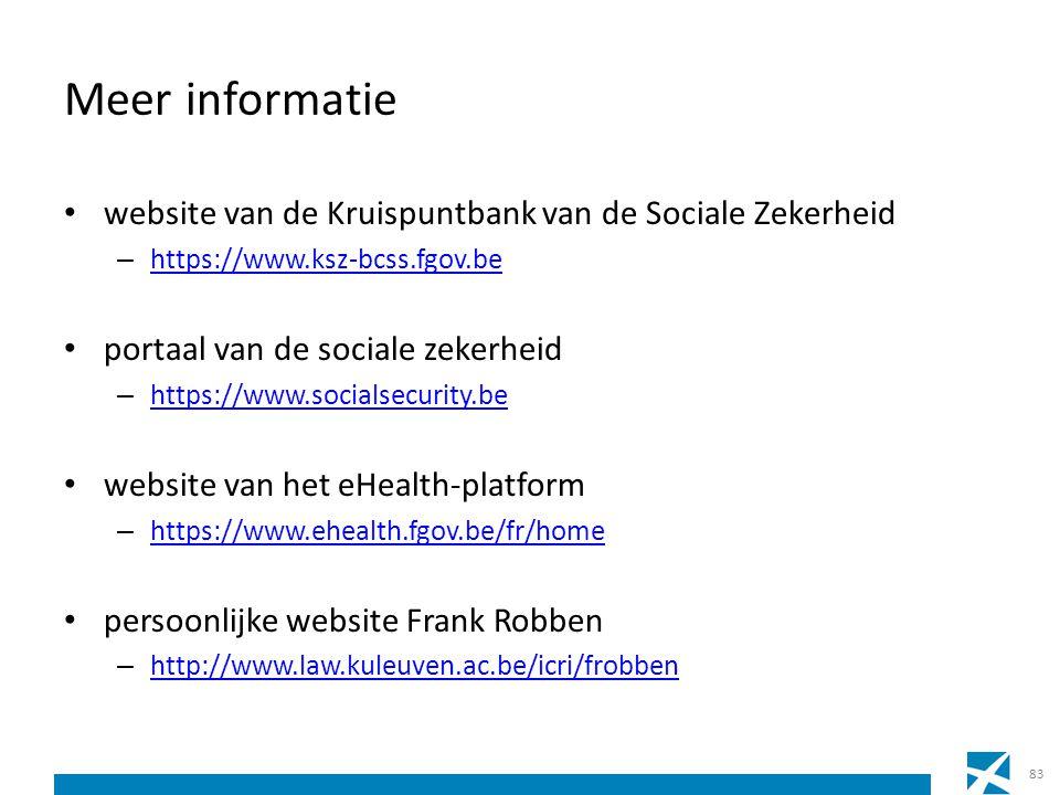 Meer informatie website van de Kruispuntbank van de Sociale Zekerheid