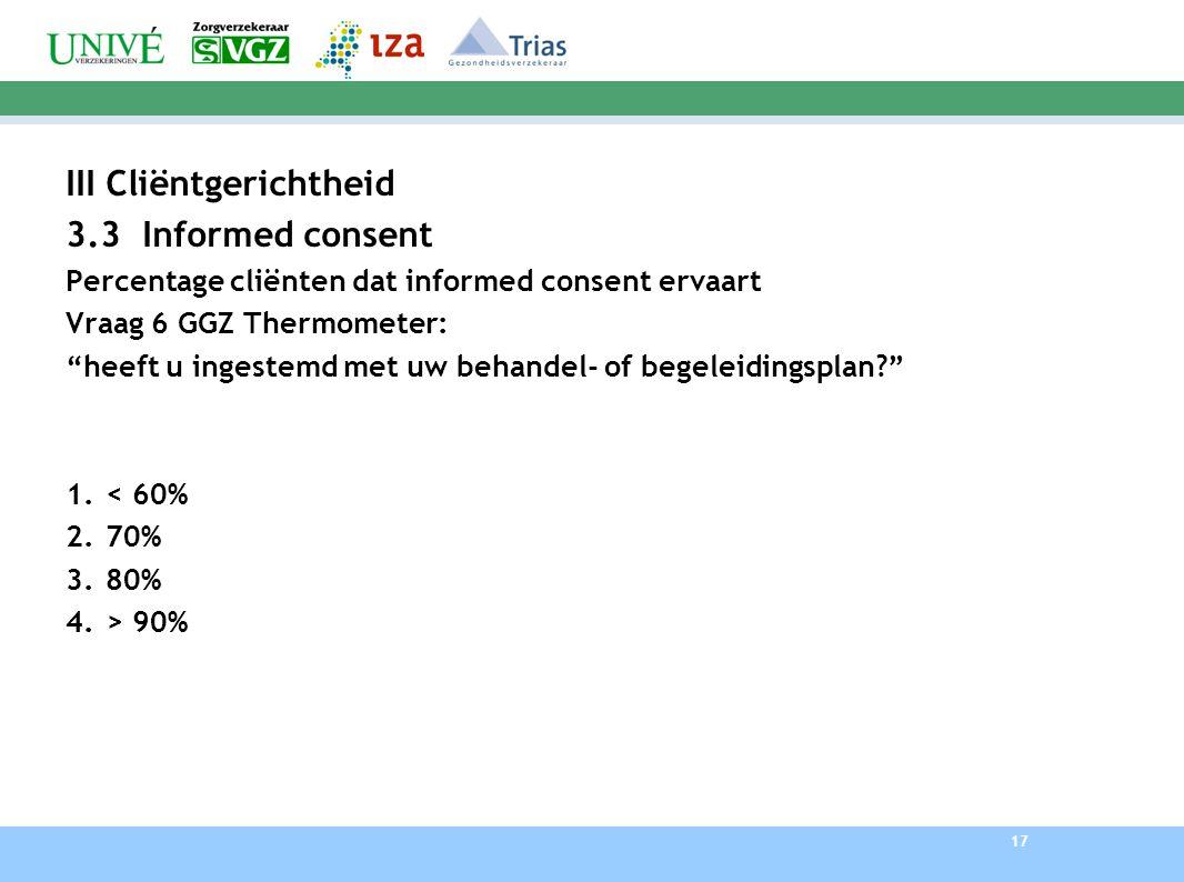 III Cliëntgerichtheid 3.3 Informed consent
