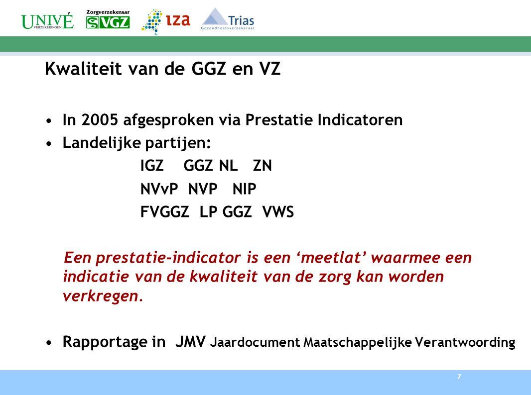 Kwaliteit van de GGZ en VZ