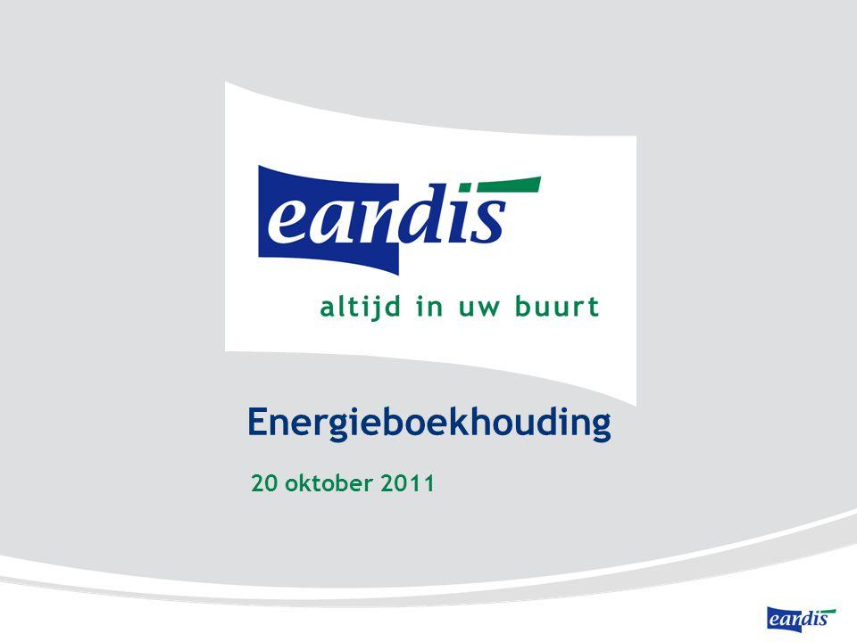 Energieboekhouding 20 oktober 2011 mei 2011