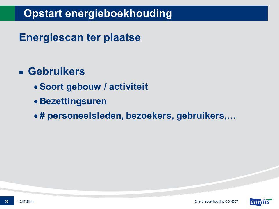 Opstart energieboekhouding