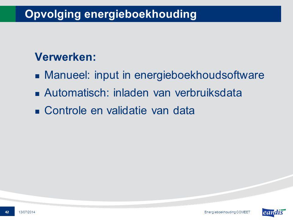 Opvolging energieboekhouding