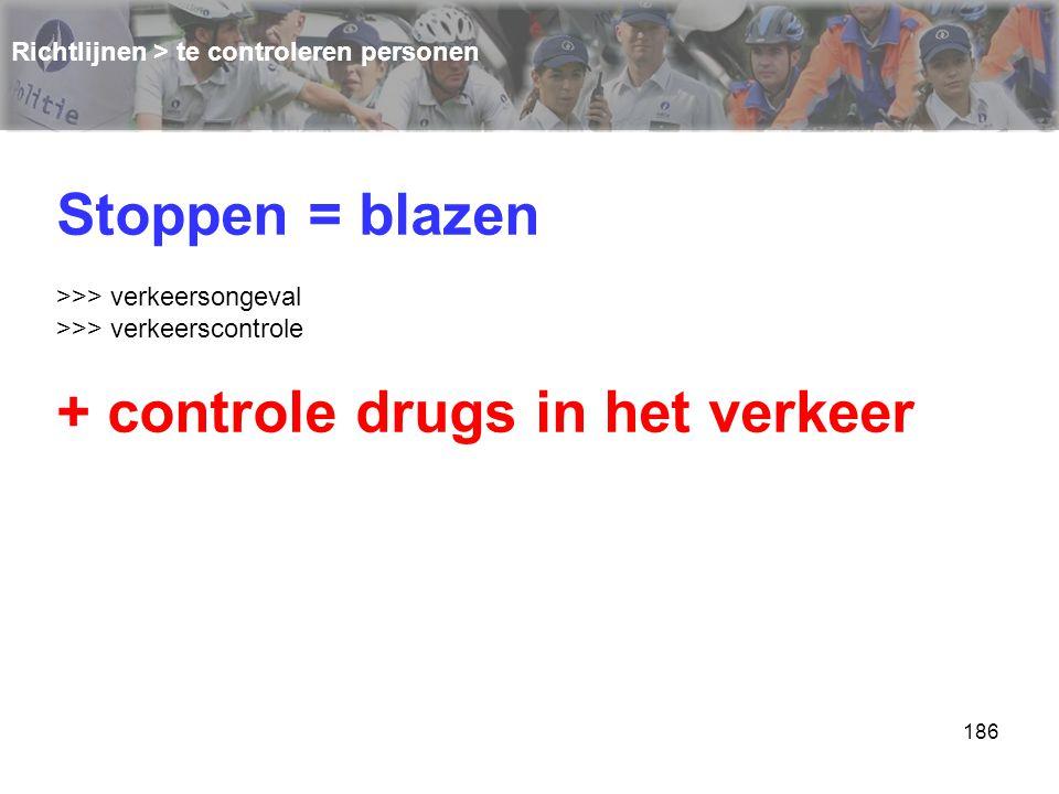 + controle drugs in het verkeer