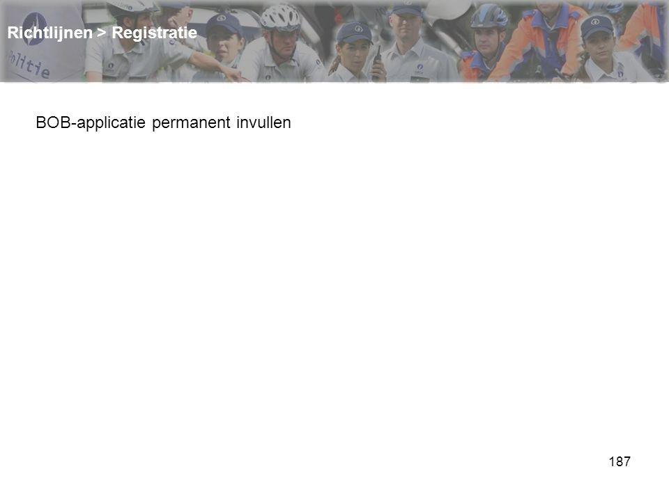 Richtlijnen > Registratie