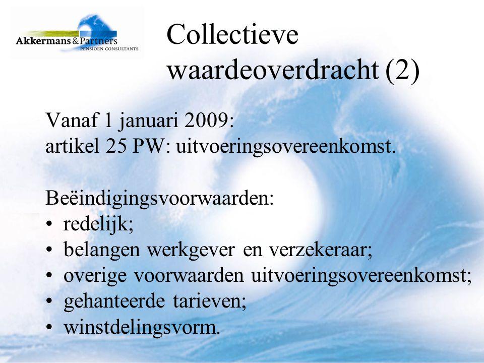 Collectieve waardeoverdracht (2)
