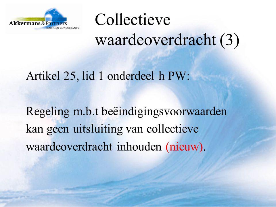 Collectieve waardeoverdracht (3)