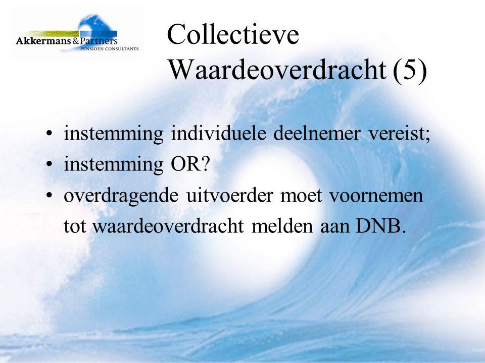 Collectieve Waardeoverdracht (5)