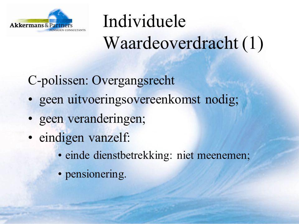 Individuele Waardeoverdracht (1)