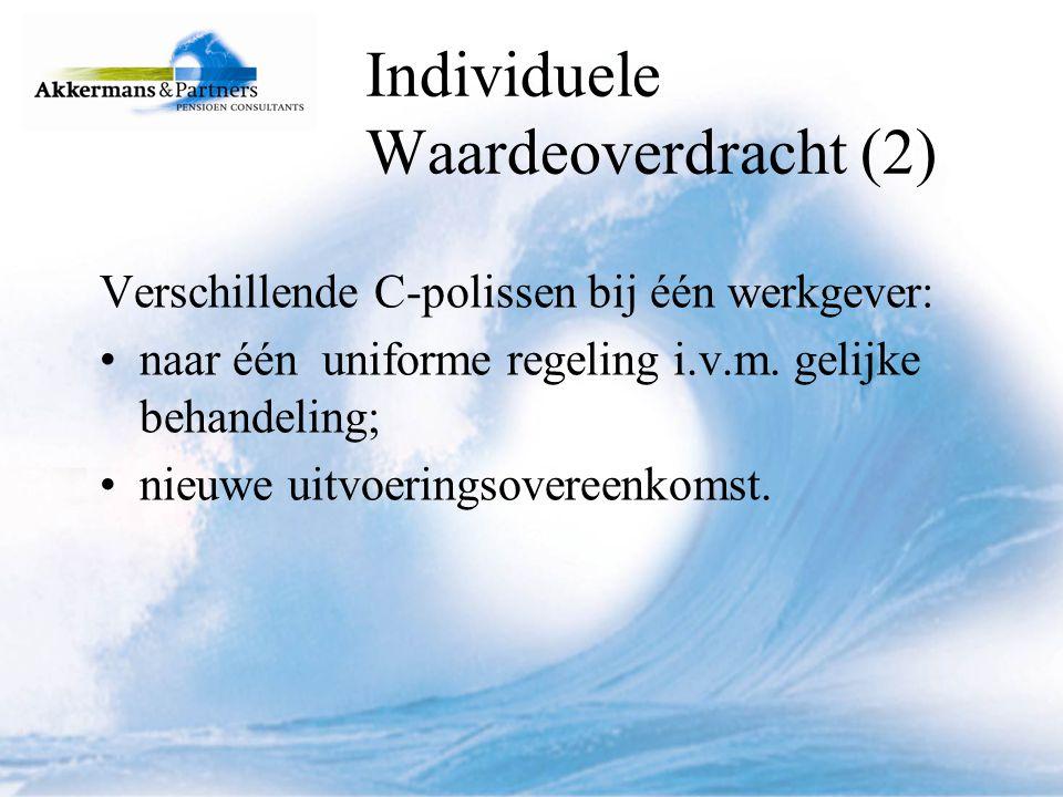 Individuele Waardeoverdracht (2)