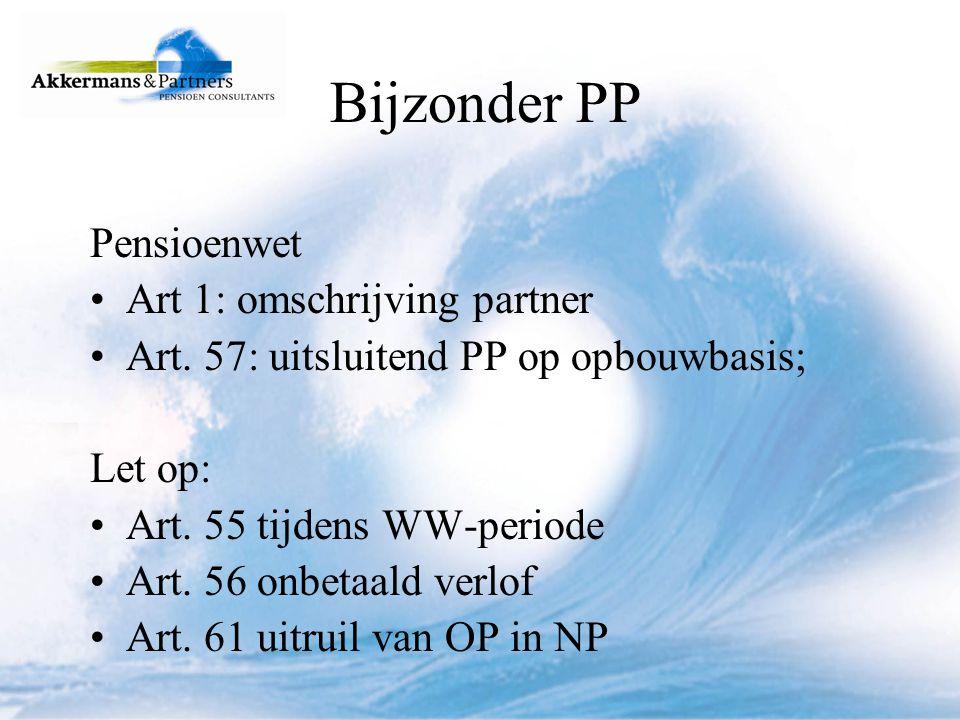 Bijzonder PP Pensioenwet Art 1: omschrijving partner