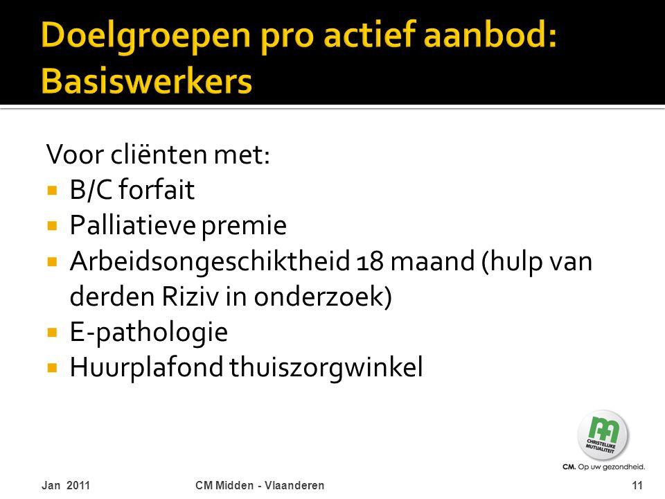 Doelgroepen pro actief aanbod: Basiswerkers