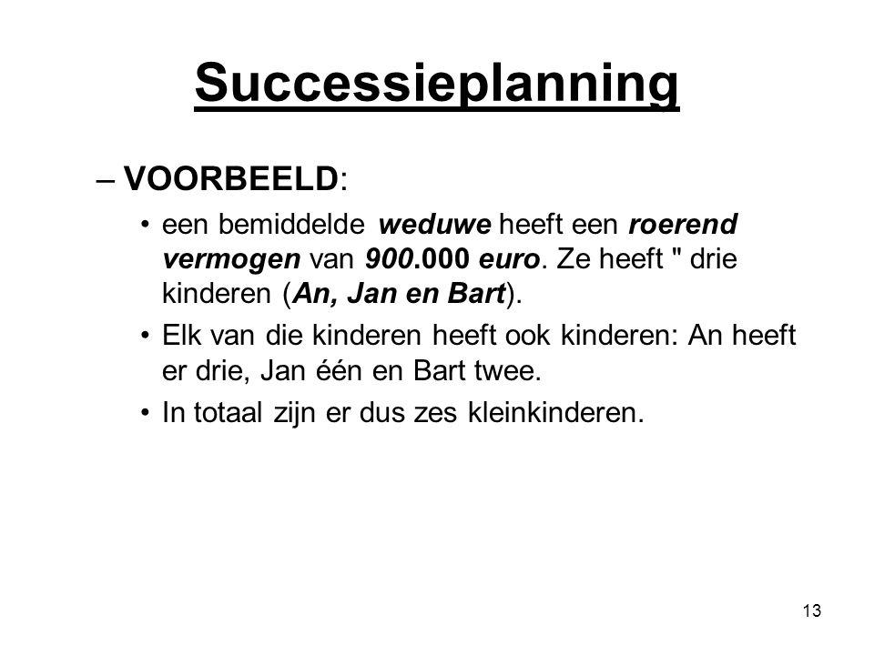 Successieplanning VOORBEELD: