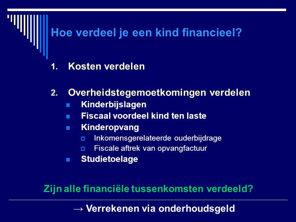Hoe verdeel je een kind financieel