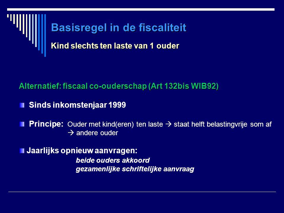 Basisregel in de fiscaliteit
