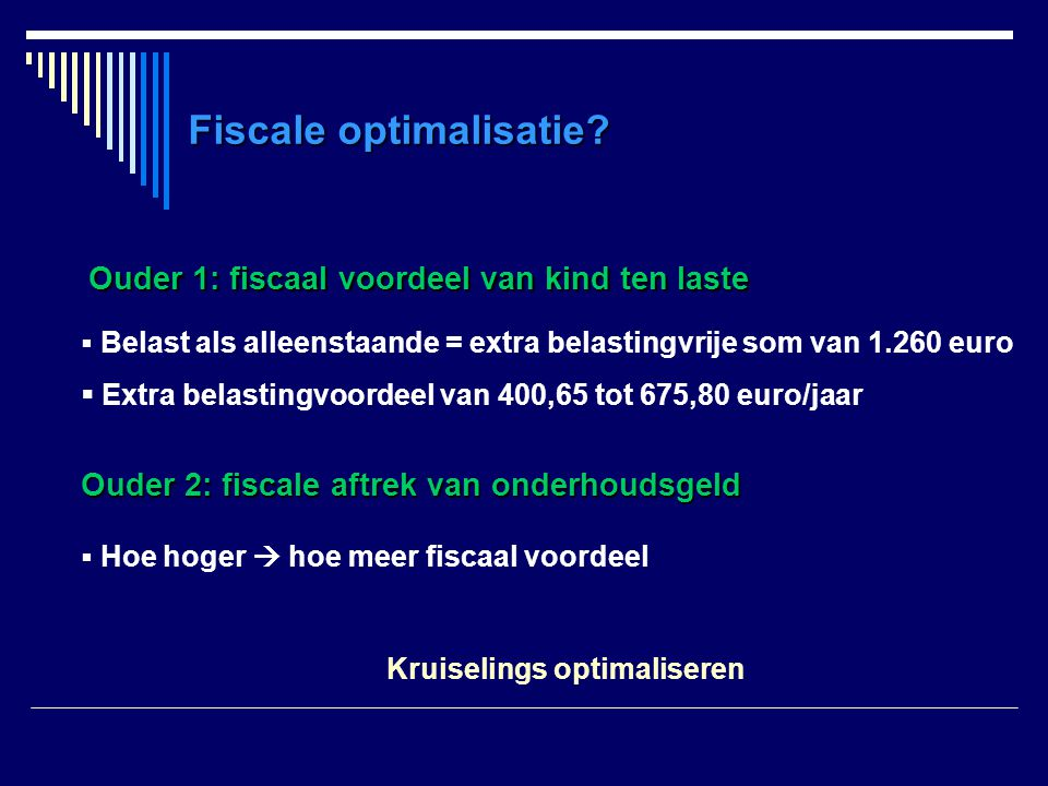 Fiscale optimalisatie