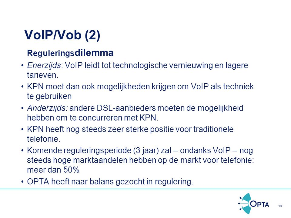 VoIP/Vob (2) Reguleringsdilemma