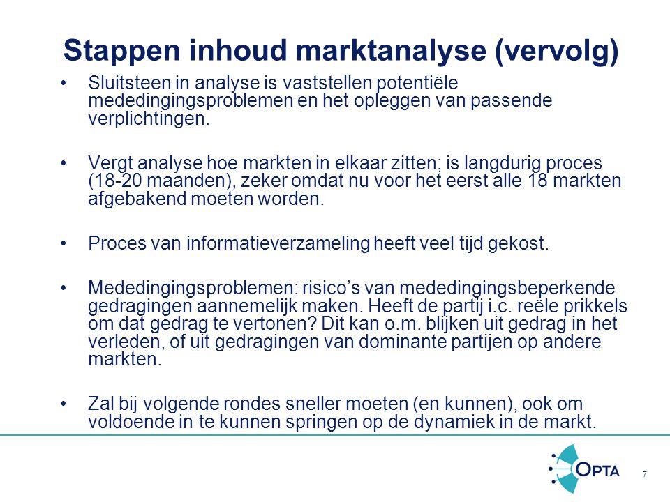Stappen inhoud marktanalyse (vervolg)