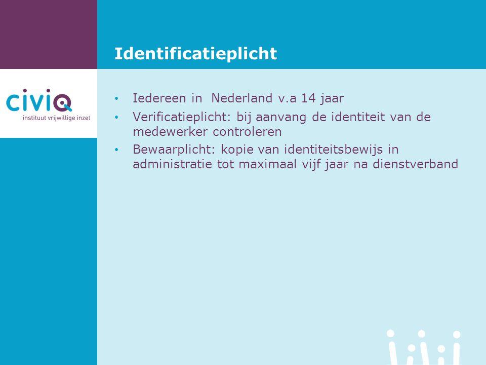 Identificatieplicht Iedereen in Nederland v.a 14 jaar