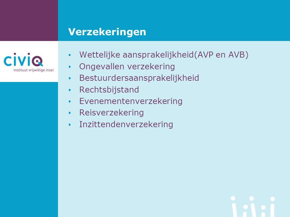 Verzekeringen Wettelijke aansprakelijkheid(AVP en AVB)
