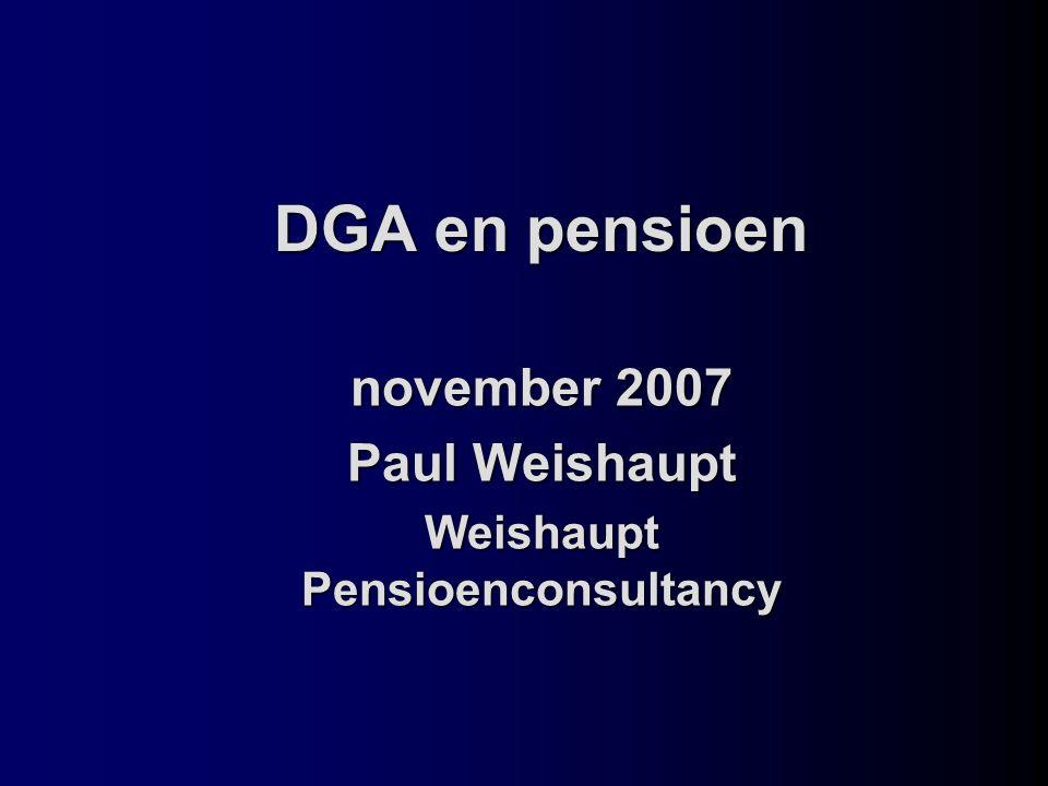 november 2007 Paul Weishaupt Weishaupt Pensioenconsultancy