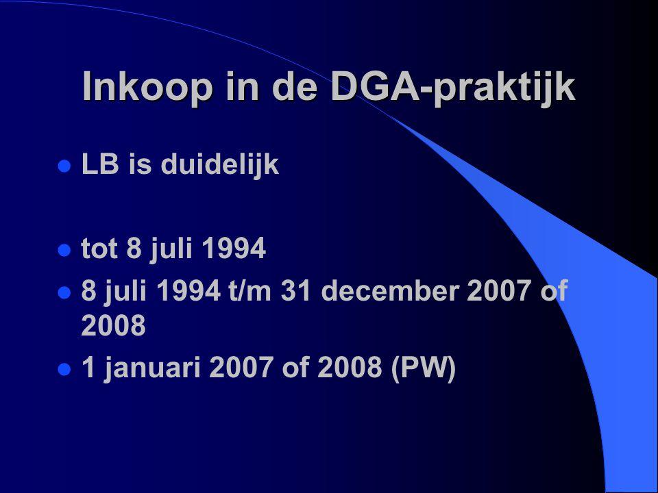 Inkoop in de DGA-praktijk