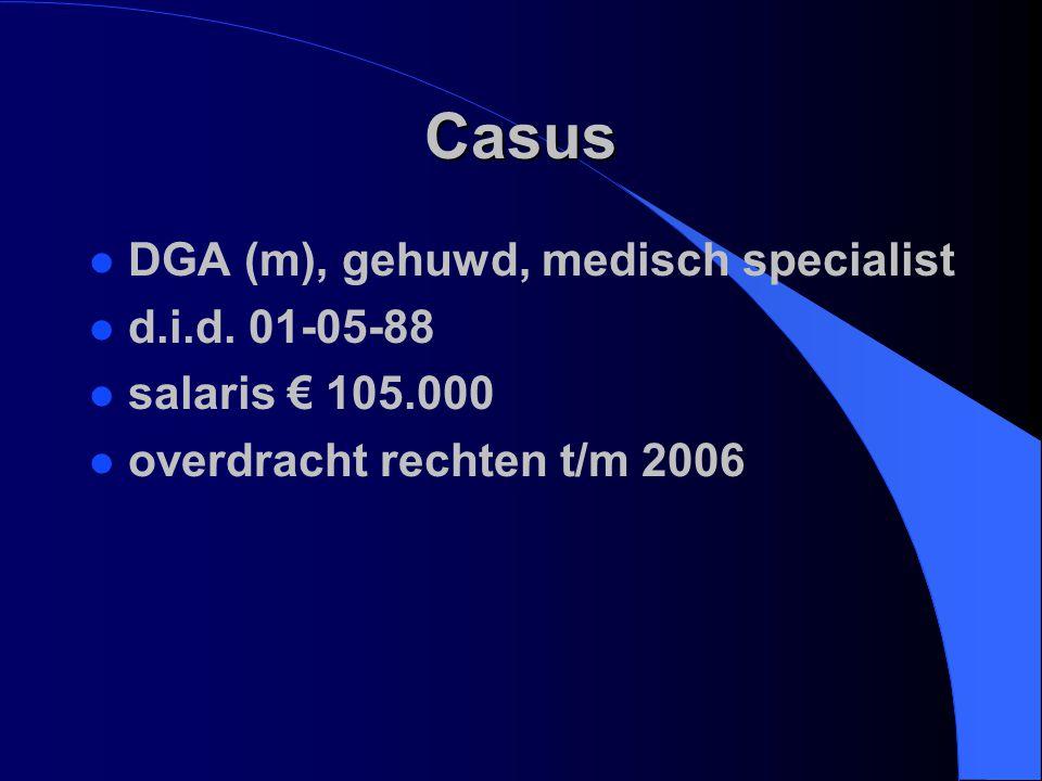 Casus DGA (m), gehuwd, medisch specialist d.i.d. 01-05-88