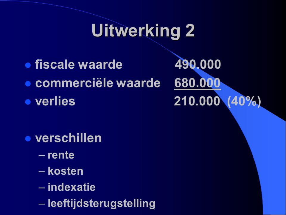 Uitwerking 2 fiscale waarde 490.000 commerciële waarde 680.000