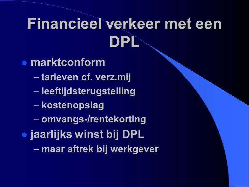Financieel verkeer met een DPL