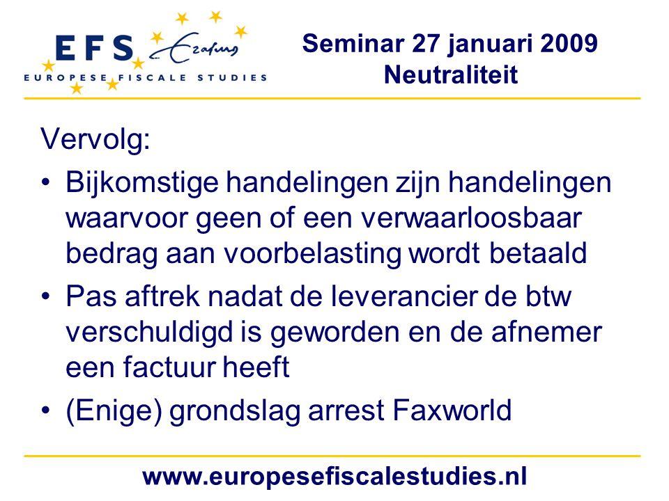 (Enige) grondslag arrest Faxworld