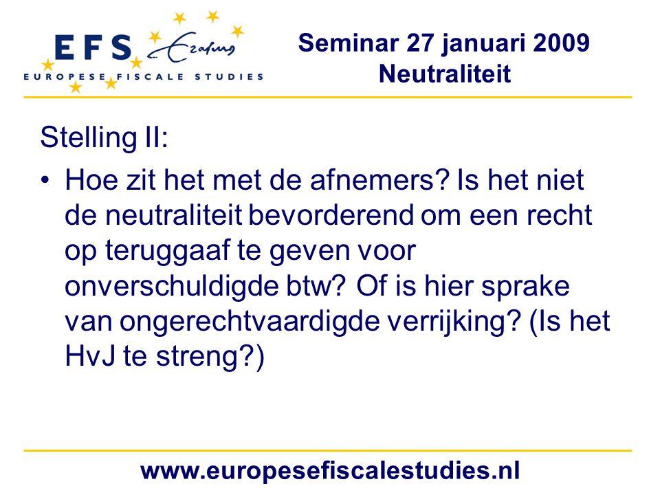 Stelling II: