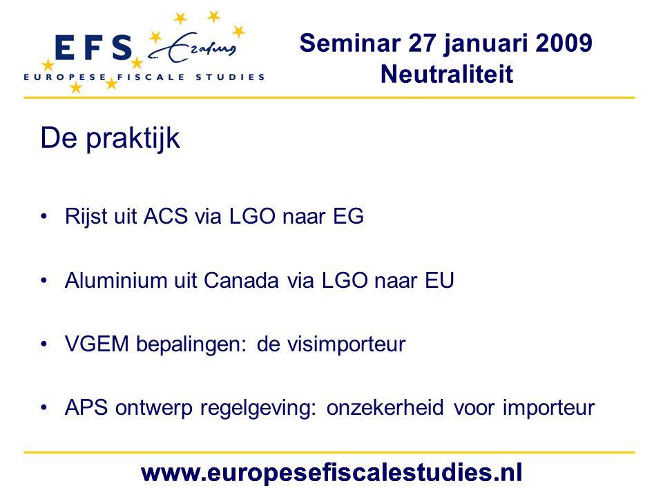 De praktijk www.europesefiscalestudies.nl