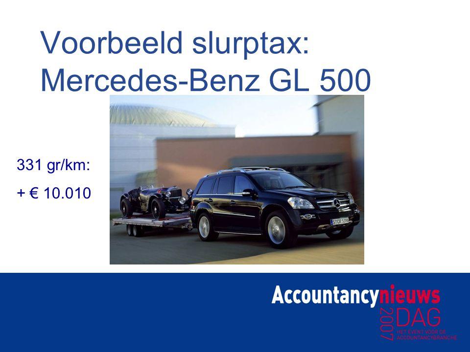 Voorbeeld slurptax: Mercedes-Benz GL 500