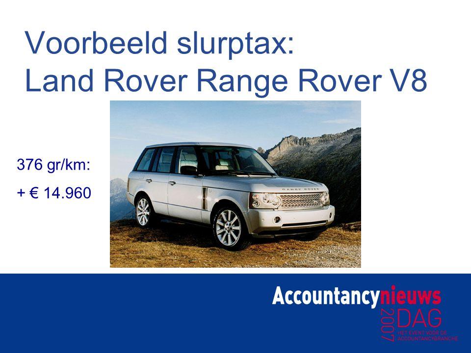 Voorbeeld slurptax: Land Rover Range Rover V8
