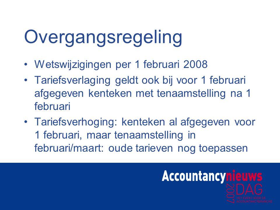 Overgangsregeling Wetswijzigingen per 1 februari 2008