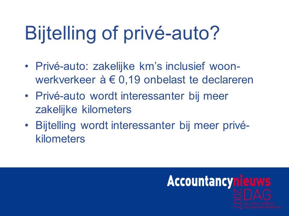 Bijtelling of privé-auto