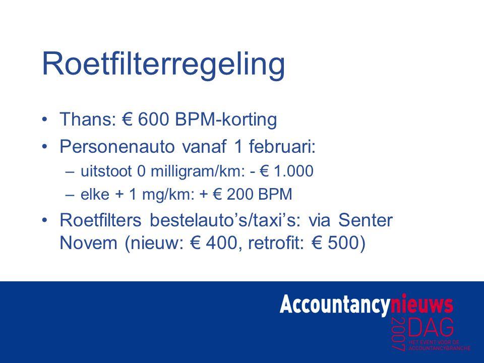 Roetfilterregeling Thans: € 600 BPM-korting
