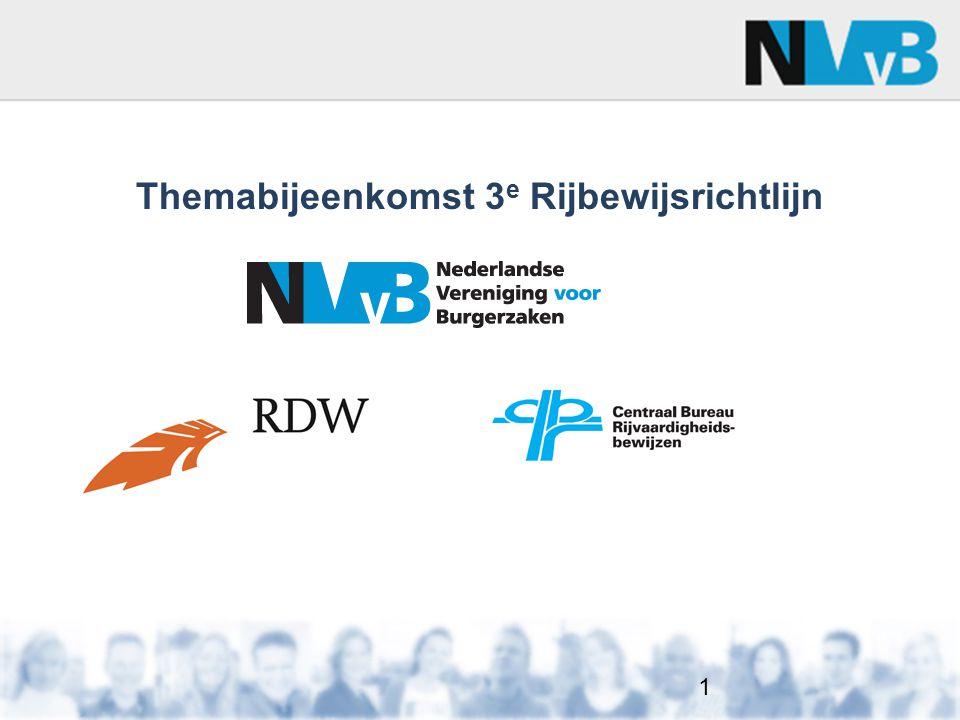 Themabijeenkomst 3e Rijbewijsrichtlijn