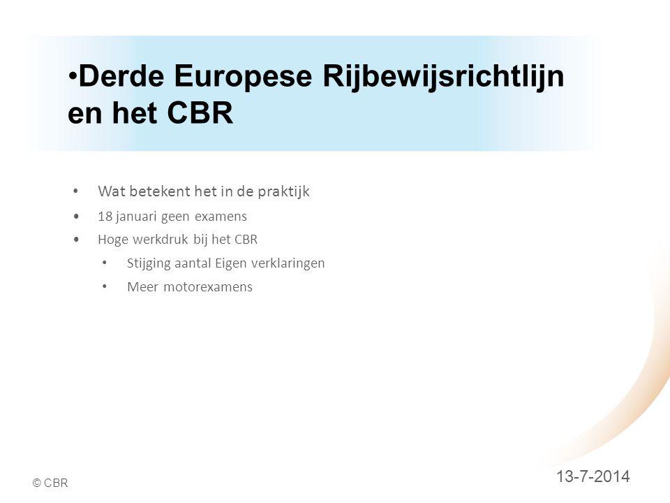 Derde Europese Rijbewijsrichtlijn en het CBR