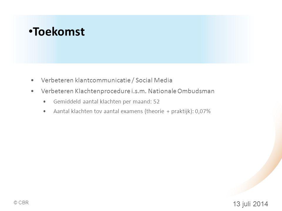 Toekomst Verbeteren klantcommunicatie / Social Media